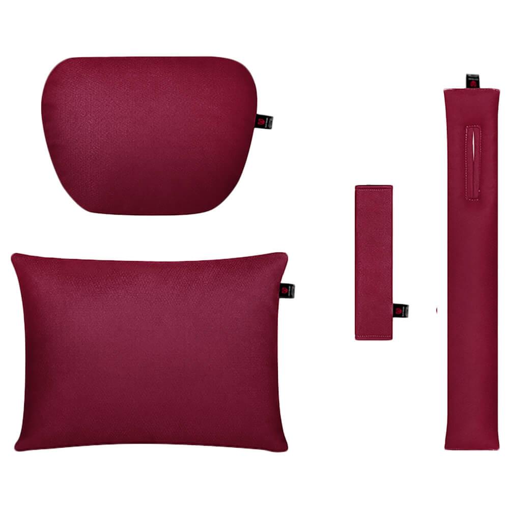 Бордовый комплект подушек в салон автомобиля 4 штуки