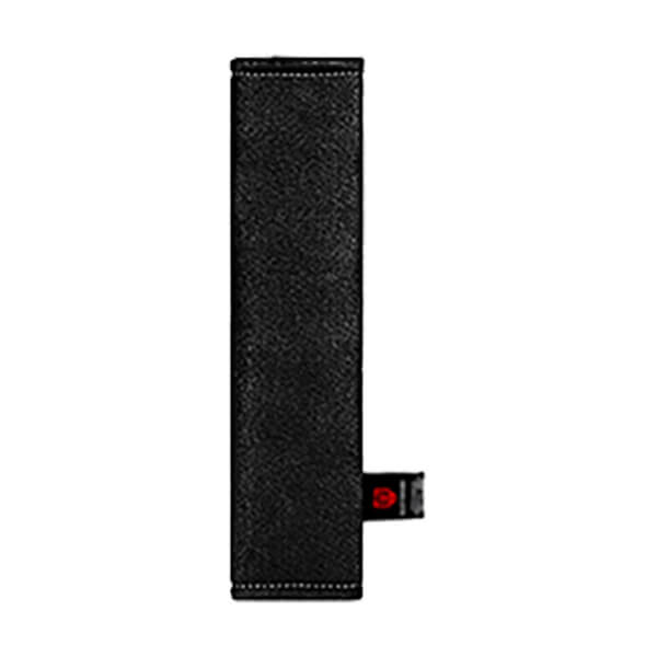 Чёрная накладка на ремень вертикальная