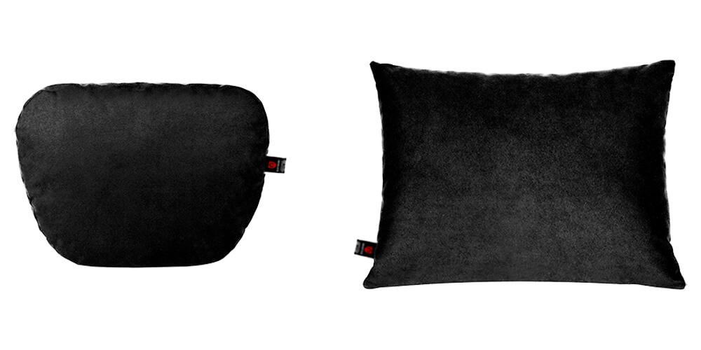 Подушки в салон автомобиля, чёрный комплект, 2 штуки