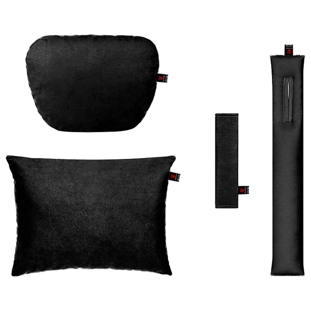 Чёрный комплект подушек в салон авто 4 штуки
