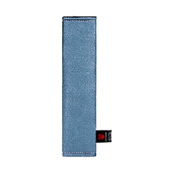 Голубая накладка на ремень вертикальная