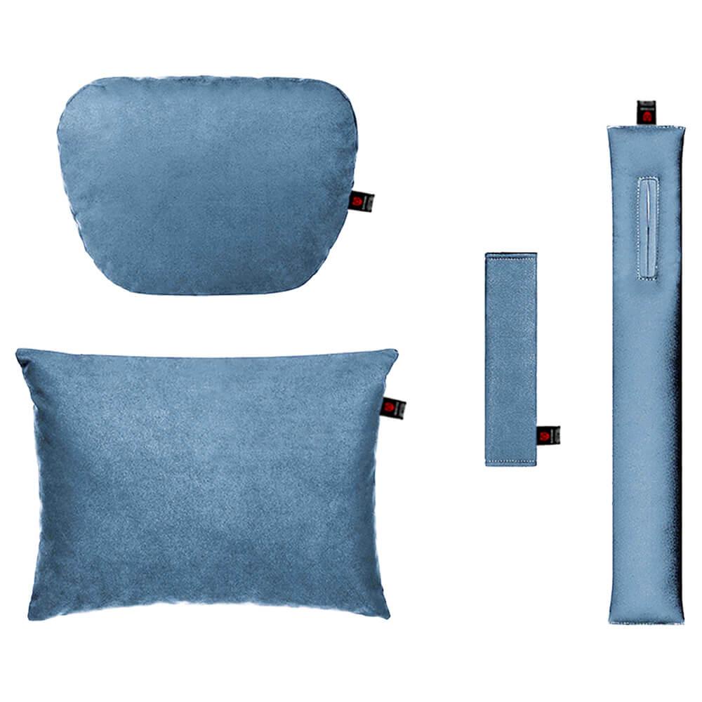 Подушки в салон автомобиля, голубой комплект, 4 штуки