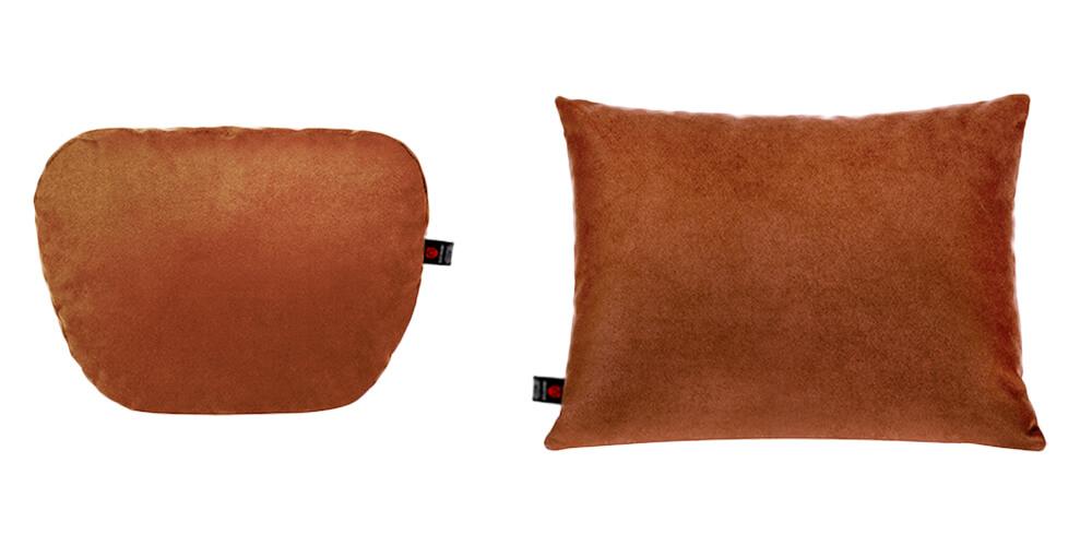Подушки в салон автомобиля, коричневый комплект, 2 штуки