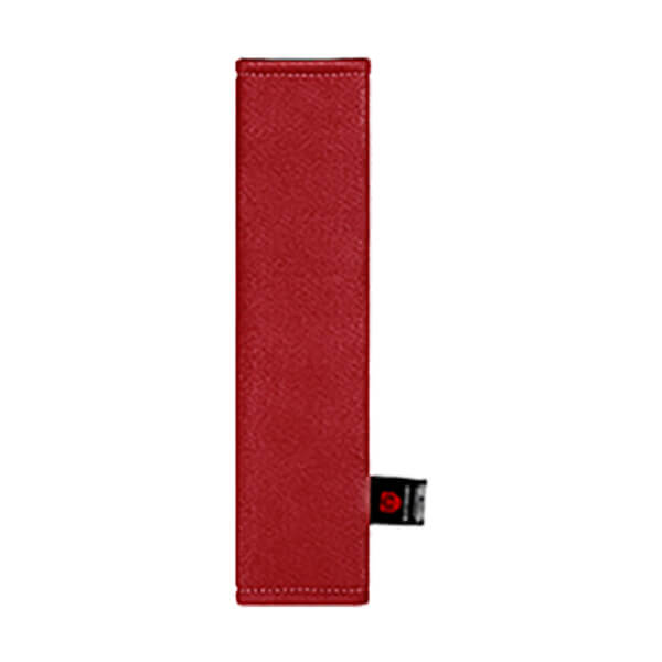 Красная накладка на ремень вертикальная