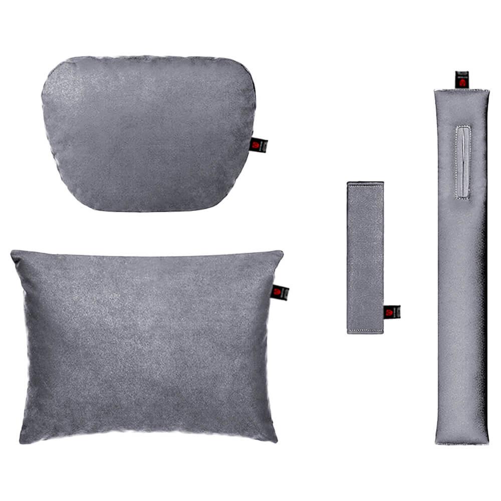 Серый комплект подушек в салон автомобиля 4 штуки