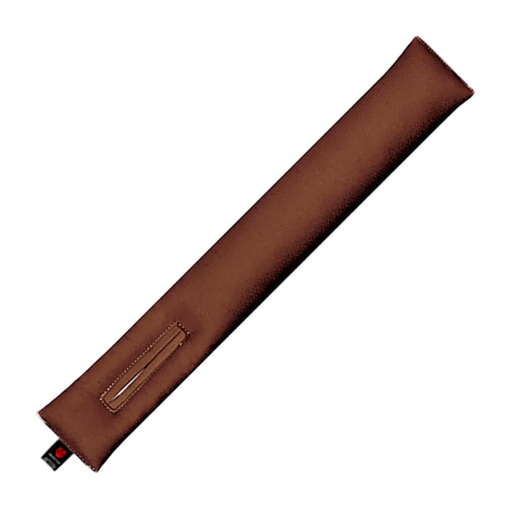 Тёмной-коричневая накладка на ремень горизонтальная