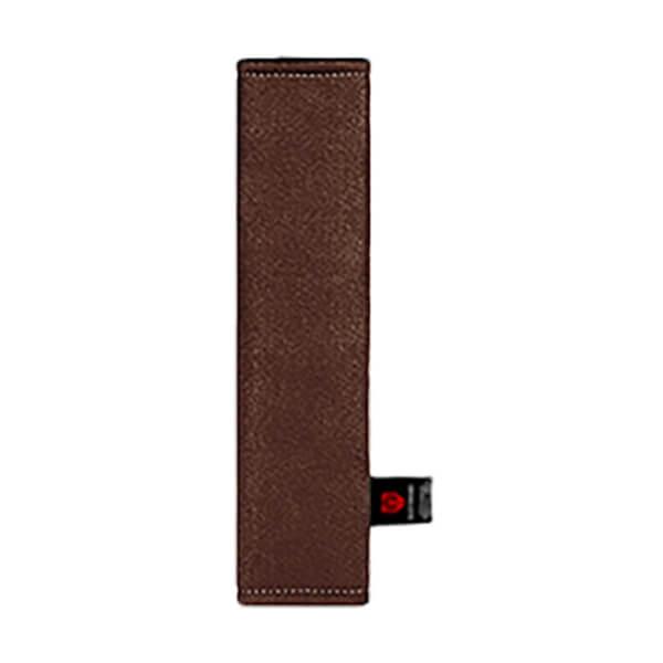 Тёмной-коричневая накладка на ремень вертикальная