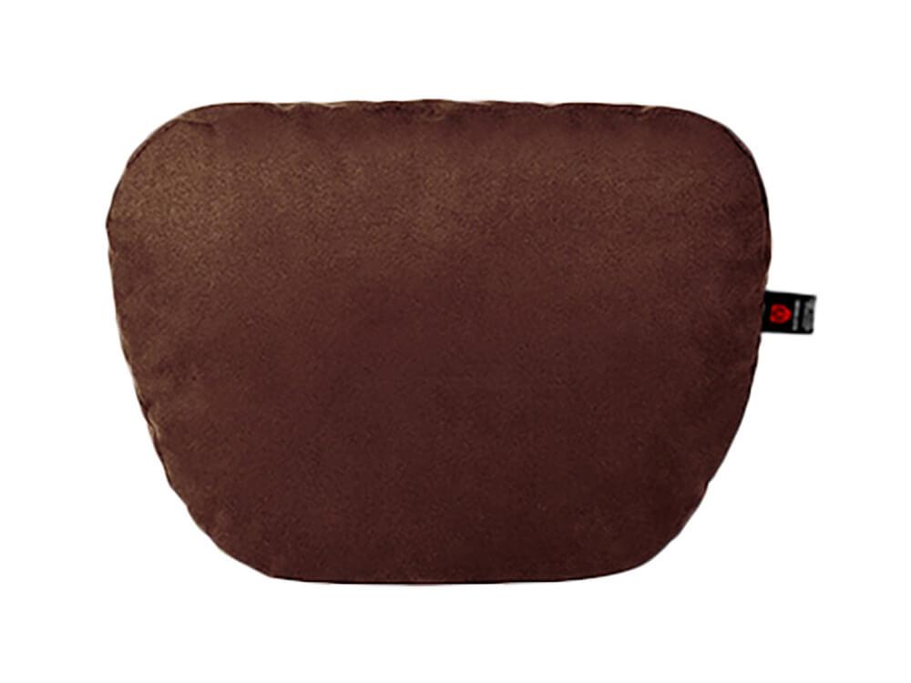 Тёмно-коричневая подушка на подголовник