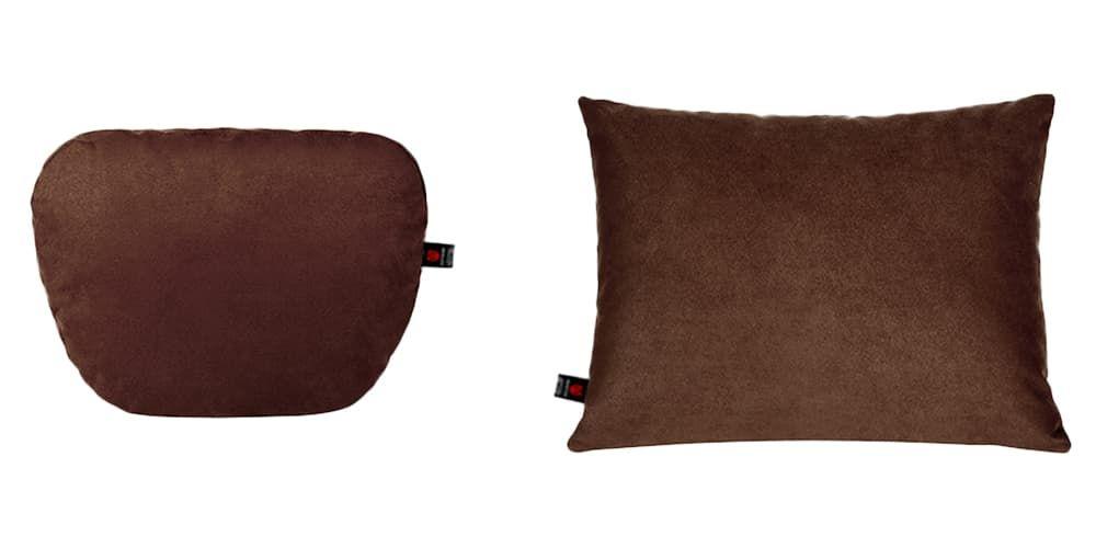 Тёмно-коричневый комплект подушек в салон авто, 2 штуки