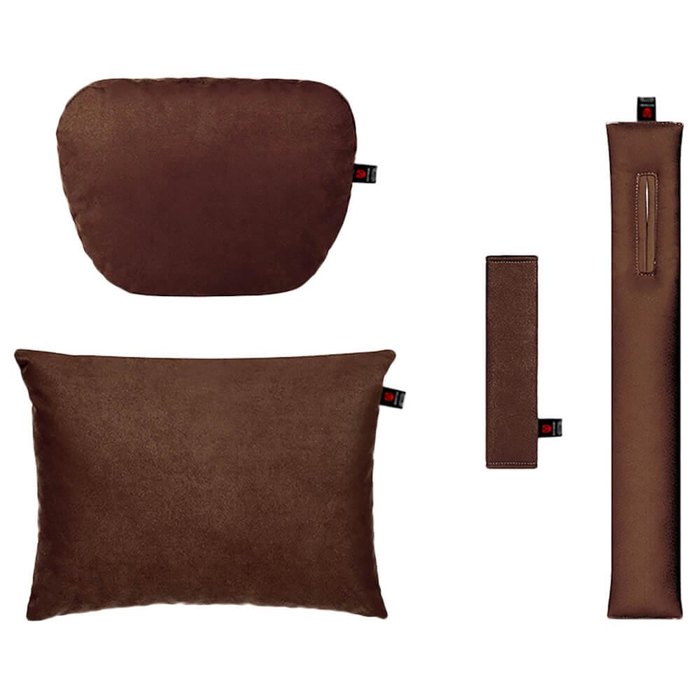 Тёмно-коричневый комплект подушек в салон 4 штуки