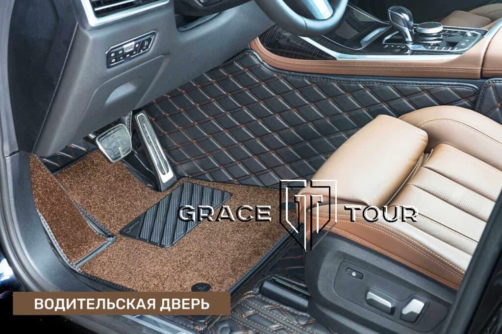 3D коврики из экокожи на BMW X7