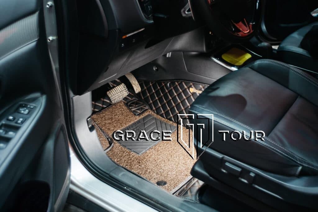Коврики из экокожи для салона Mitsubishi Outlander, водительская дверь