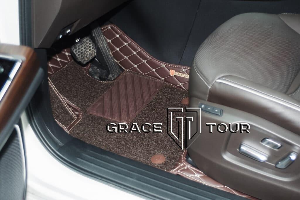 3d коврики из экокожи для Mazda CX-9 AWD. Водительский коврик имеет прорезиненный подпятник