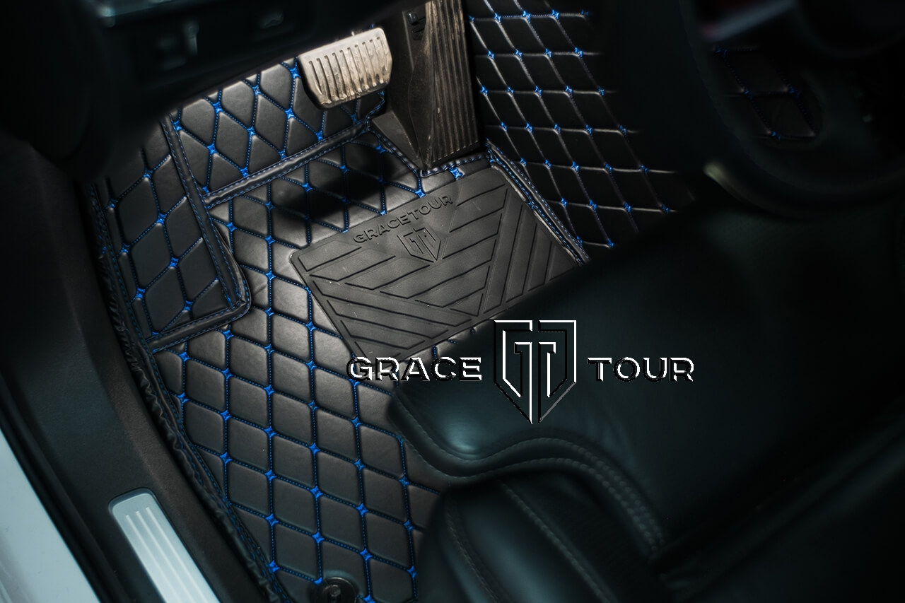 3D коврик водительский из экокожи для Volvo XC90