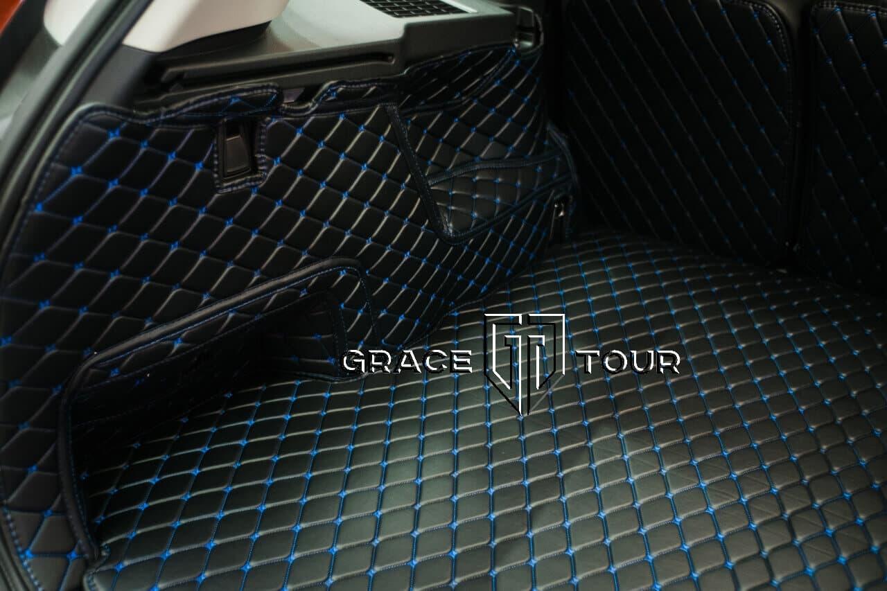 3D коврики из экокожи для Volvo XC90 в багажник